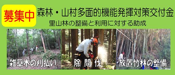 森林・山村多面的機能発揮対策交付金 里山林の保全と利用に対する助成 地域環境の保全 森林資源の利用 森林空間の利用