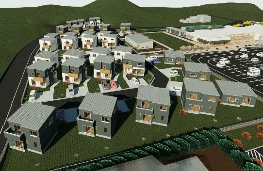 むつざわスマートウェルネスタウン住宅完成予想パース